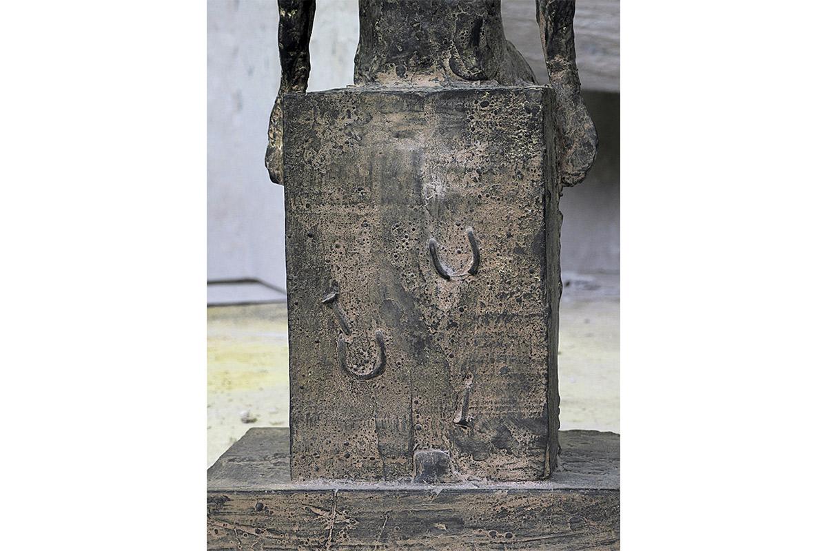 Il Contemplatore di stelle, Bronzo, cm 44X16X17, 2004