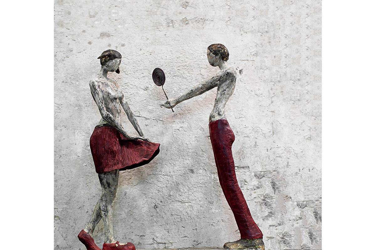 Il dono Bronzo, cm 100x30x96, 2012