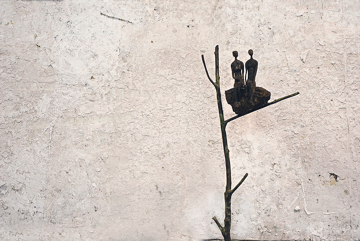 Io e te sul tetto del mondo Bronzo, cm 73x37x23, 2008