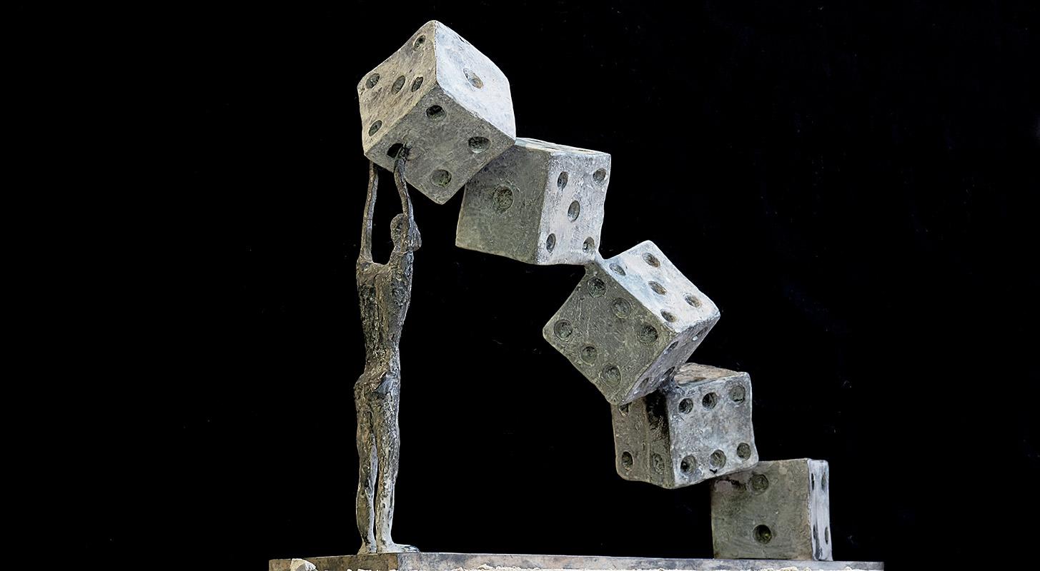 Mettersi in gioco Bronzo, cm. 39x49x12,5, 2011