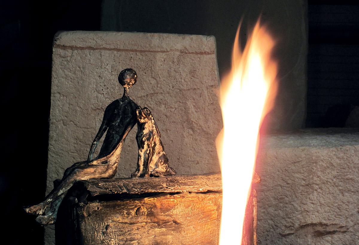 La notte di San Lorenzo... Quando le stelle cadono giù, Bronzo, cm 55x38x30, 2005