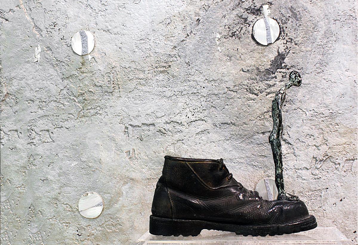Scarpe grosse cervello fino Bronzo, cm 45x14x34, 2007