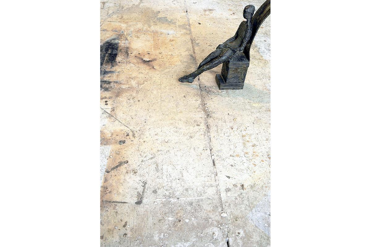 Lo stanco, Bronzo, cm 36X11X40, 2003